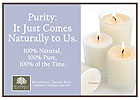 Candles Purity Naturally Shelf Talker - 5x7
