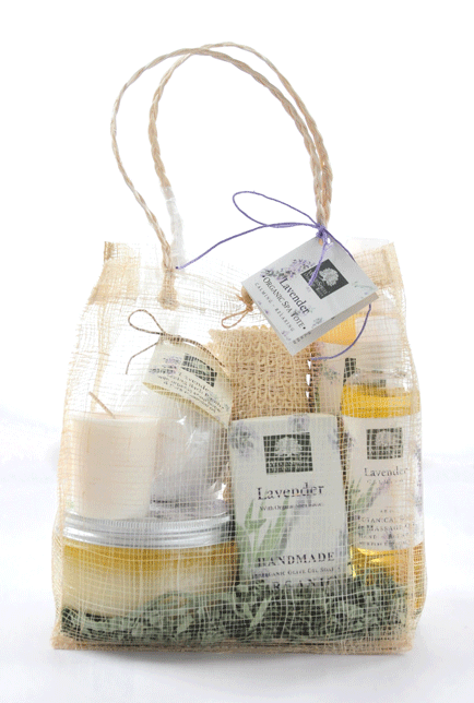 Organic spa tote gift bags