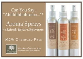 Aroma Sprays Shelf Talker