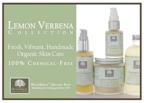Lemon Verbena Skin Care Shelf Talker
